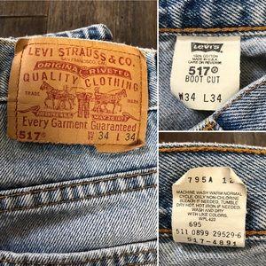 Levi's Jeans - Killer Vintage Levi's 517 jeans!